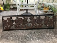 Innova Stamped Heavy Cast Iron Decorative Floral Park Back Bench Rest Kissimmee, 34741