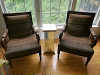 2 accent chairs with glass stand Stafford, 22556