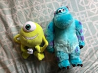 Disney Monsters Inc. Sulley & Mike Plush Stuffies