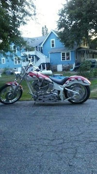 red and white chopper motorcycle $15,000 Manchester, 03109