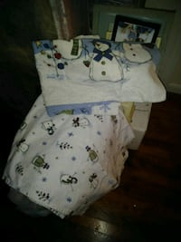 Full size bed flannel Snowman sheet set 34 mi