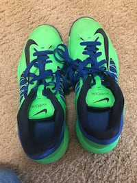 pair of green-and-blue Nike running shoes Montgomery Village, 20886