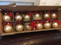 (12) Christmas/Holiday Glass Ornaments Hagerstown, 21742