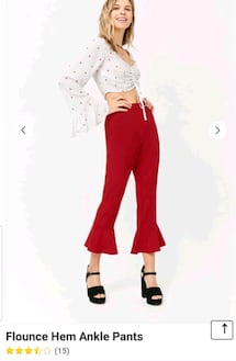 red brand  new pants medium