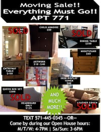 Final Week: Moving Sale! Make me an offer!  Arlington