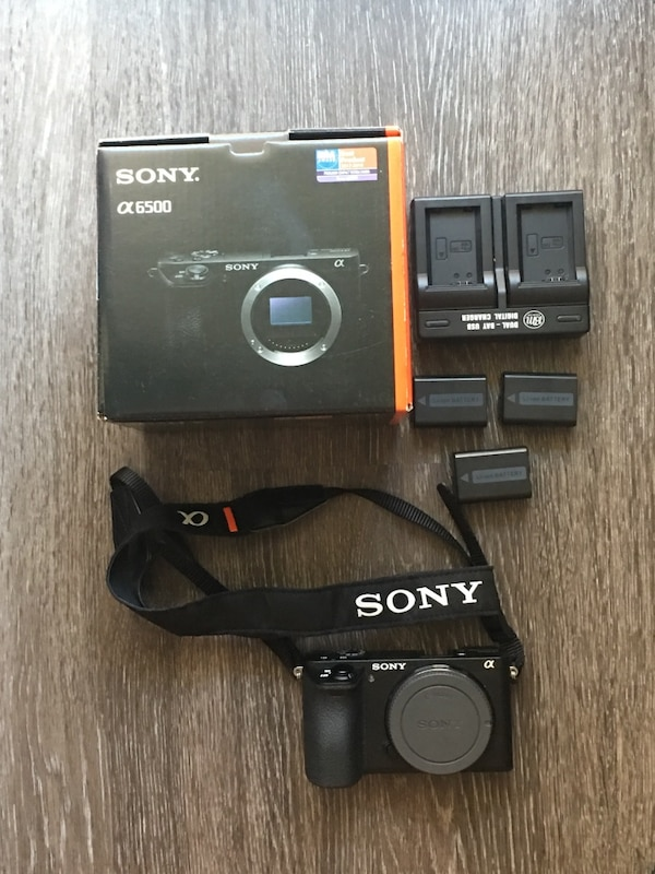 Sony a6500 Barely Used With Box and Documents