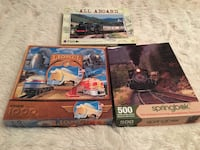 3 pre-enjoyed railroad train Jigsaw puzzles