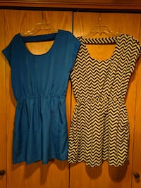 Blue dress and cream and black dress Vancouver, 98685