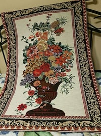 TAPESTRY red, white, and black floral area rug Easton, 18045