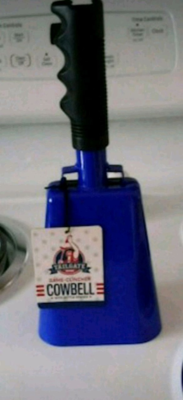 Tailgate blue gameday cowbell