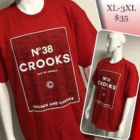 CROOKS & CASTLES men's crew collar tees available  1960 km