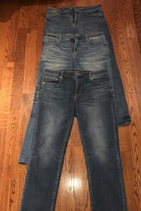 Jeans American Eagle flex fit 3 pairs