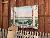 Oil painting Greek mediterranean style.  Best offer 6 ft wide x 4 1/4 tall Columbia, 21044
