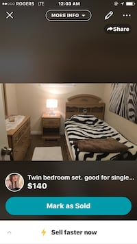 Beige girls or single short woman bedroom set