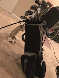 Golf Clubs full set. taylor made driver and bag. graphite shaft irons. cleveland wedge. nice 3 wood Reston, 20191