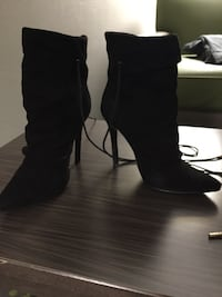 Size 7 3 and a half inch heels suede leather  Winnipeg, R3H 0B3
