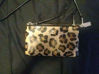 Brown and black leopard print leather wristlet New Britain, 06051