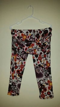 white, black, and red floral pants Edmonton, T5K
