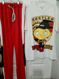 Men Track Pants & Custom Tee .. Both Size Large  Grand Prairie, 75052