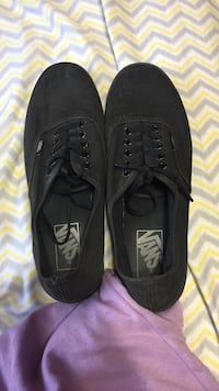 black Vans low tops