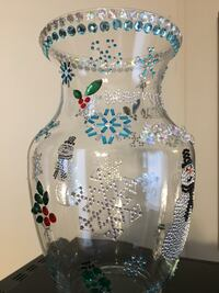 Christmas Glass  Bling Bling Vase Lancaster, 17603