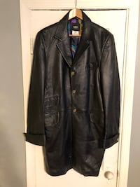 Mens Versace leather coat size 52 Authentic Washington, 20002