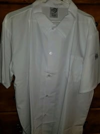 White Culinary work / cook button down shirt