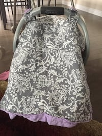 Grey and Purple Car seat Cover , T7X 0M3