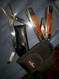 multi tool basically new camping leatherman pouch (2)