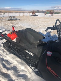 2016 SkiDoo summit sp 800 153 track with fuel tank solo and double seat and snowboard/ski rack 1745 mi