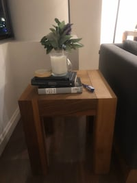 Wooden side coffee table
