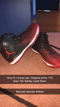 pair of black-and-red Nike basketball shoes Lincroft, 07738
