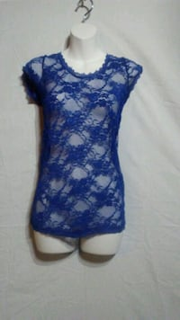 Blue scoop-neck lace cover Oklahoma City