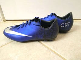 Youth size 4.5 Nike CR7 Mercurial Royal blue soccer cleats