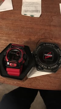 Black casio g-shock digital watch Waltham