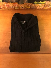 Mens Dark charcoal 1/4 zip sweater Groton, 06340