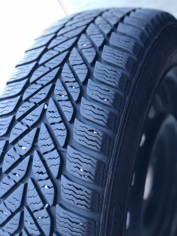 4 Winter GoodYear Tires with rims 3