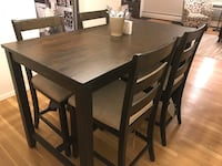 Expresso Dining Room Table & 4 Chairs