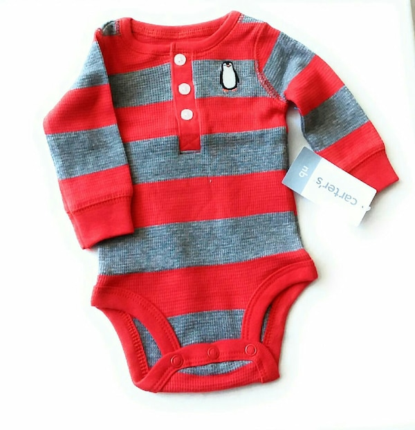 NEW WITH TAG CARTER'S  STRIPED THERMAL BODYSUIT  648bbe1a-aec0-4381-b06b-d26e47f402bd