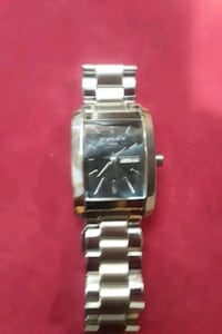 square silver-colored analog watch with link brace Brooklyn, 11207