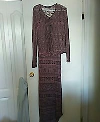 brown and gray long-sleeved dress Fort McMurray, T9H 3Z4