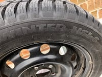 Four used winter tire on rims
