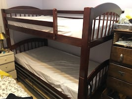 Bunk bed with lather