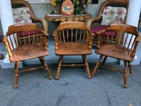 3 solid wood vintage Heywood Captains chairs Ocala, 34482