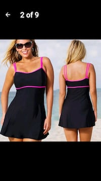 Strappy Tankini Swim Dress 16/18 1x/2x  Victoria, V8T
