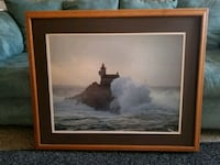 Oak Framed light house painting  Turlock, 95382