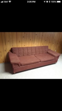 Brown fabric 3-seat sofa and 2 chairs Edmonton, T6C 2B8