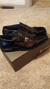 pair of black leather loafers Anderson
