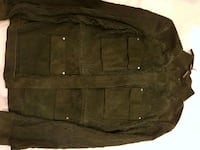 New Elie Tahari womens suede dark green jacket.