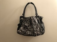 black and gray leopard print leather tote bag Denver, 80202